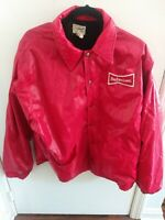 Vintage Budweiser Swingster Jacket Size L Made In USA