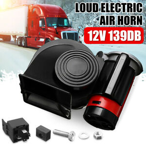 139DB Electric Pump Air Horn Trumpet Compact Dual Tone Car Truck Boat AU Stock