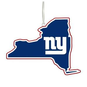 New York Giants NFL Team State Christmas Ornament - New With Tag