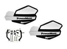 PowerMadd Star Series Handguard Guards Kit Black White Universal ATVs Dirtbike