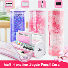 Plastic Multi-function Pencil Case Make-up Pen Box Large Capacity Liquid  A L