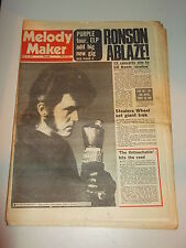 MELODY MAKER 1974 MARCH 16 ALVIN STARDUST DEEP PURPLE ELP MICK RONSON