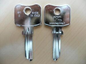 10 x Schlüssel Rohlinge Rohling WI2 1884 WI5D1 WIL-5D WIL80 WK55 WILKA