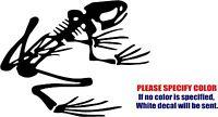 "Frog Skeleton Decal Sticker JDM Funny Vinyl Car Window Bumper Truck Laptop 7"""