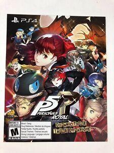 Unused Persona 5 Royal Phantom Thieves Dynamic PS4 Theme Insert / Playstation 4