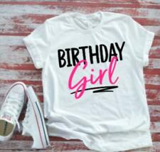Birthday Girl, Cute Women's White T shirt  with FREE SHIPPING.