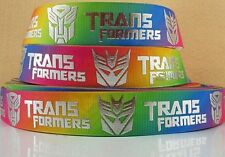 "BTY 1"" Colorful Transformers Movie Grosgrain Ribbon Hair Bows Lanyards Lisa"