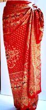 Thai dress style Indonesian batik print red gold color sarong dress long skirts