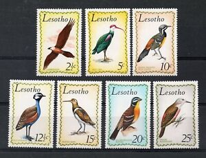 LESOTHO : 1971 BIRDS SET COMPLETE S.G.204 TO 210 UNMOUNTED MINT.
