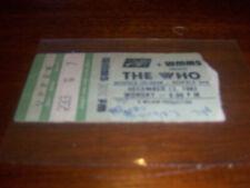 1982 The Who-Richfield Coliseum- Ohio Ticket Stub-Farewell Tour 12-13-1982
