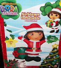 Dora The Explorer Hispanic Latina Santa Lighted Indoor Outdoor Yard Ornament
