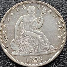 1859 O Seated Liberty Half Dollar 50c High Grade AU Details #22181