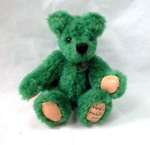 "World of Miniature Bears By Theresa Yang 3"" Mohair Pin Bear Green #499 CLOSING"
