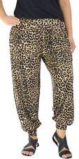 Ladies Printed Plus Size Full Length Baggy Harem Pants Leggings Trousers 8-26