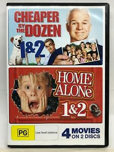 Cheaper by the Dozen 1/2 & Home Alone 1/2 - 4 Movie 2 DVD -AusPost with Tracking