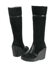 Stiefel aus Textil mit Keilabsatz für Damen