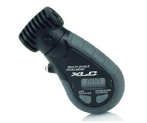 XLC Cycle Bike Dual Valve Tyre Pressure Gauge With Bleed Valve. 2501960070