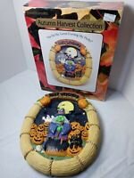 Vtg Great American Fun Corp. Resin Witch Wreath Musical lights and sound JoL