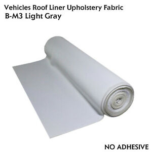 Headliner Fabric Renovate/Replace Cloth Rood Trunk Cargo Dome Lining Light Gray