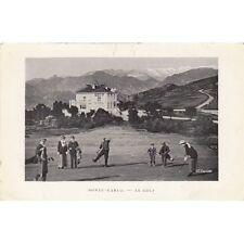 MONTE-CARLO le golf cliché enrietti écrite 1946