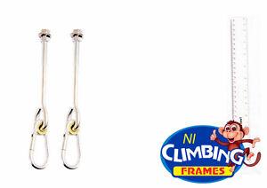 """PAIR o-type swing hook galvanised steel 4"""" post Swing Climbing M12 length 260mm"""