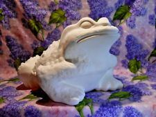 Large Garden Toad Ceramic Bisque Ready to Paint