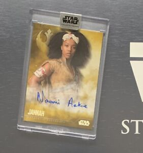 Star Wars Stellar 2020 JANNAH Naomi Ackie Autograph Card GOLD #5/5