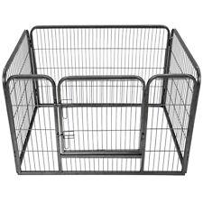 Parc enclos exterieur pour chiot grillage installation à ciel ouvert lapin noir