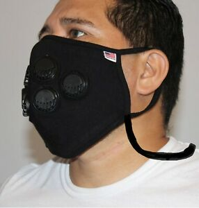 517 6 Respirators XL Big & Tall EXERCISE running Hiking Face mask Neck Strap