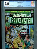 Monster of Frankenstein 1 CGC 9.0 Marvel comics 1973 Mike Ploog cover