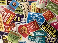 �� Vintage 1970s Mad Magazine Stamp Stickers President Nixon Politics War Old �