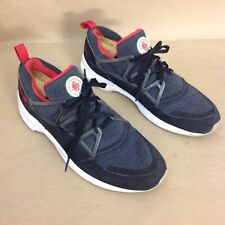 new product 5af8e 1e781 NIKE AIR HUARACHE LIGHT BLACK UNIVERSITY RED WOLF GREY 306127-006 MEN S SIZE