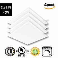 LED 2 x 2 Ft Recessed LED Panel Light Ceiling White Frame 40W Dimmable - 4Pack