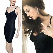 NEW DOLCE & GABBANA RUNWAY black bustier corset floral lace DRESS size 8 4 40 DG