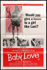 Baby Love (1969) original movie poster - sexploitation