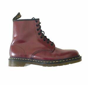 Dr Martens Mens Size 11 1460 Smooth Leather 8 Eye Lace Up Boots Cherry Red