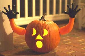 Plastic Arms For Halloween Pumpkin-Fantastic Effect