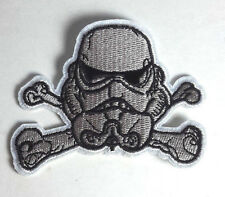 "Star Wars Stormtrooper Cross Bones Logo Grey Small 3"" Patch-Free S&H(Swpa-Cd-51S"
