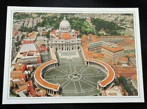 Roma Rome Aerial View St Peters Square Postcard Unposted
