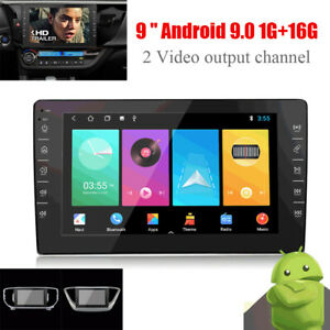 9'' Touch Screen Android 9.0 Car Radio MP5 Player Bluetooth GPS For iOS/Android
