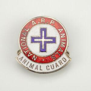 WW2 National A.R.P. Animals Guard - Home Guard Enamel Badge
