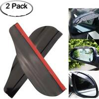 1 Pair Car Rear View Side Mirror Rain Board Eyebrow Guard Sun Visor Accessories