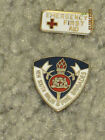 Vintage, New South Wales Fire Brigades & First Aid, Label Pins