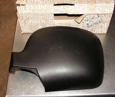 Renault Kangoo II LH Wing Mirror Cover Black Grain Finish Part Number 7701068844