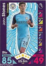 2016 / 2017 EPL Match Attax Base Card (169) John STONES Manchester City