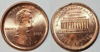 2000 - RED BEAUTY -LARGE OFF CENTER BROADSTRUCK - LINCOLN CENT MINT ERROR  #9712