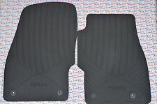 GENUINE Vauxhall CORSA D & E - RUBBER FLOOR MATS / PAIR  FRONT - NEW - 13483187