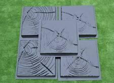 SET 5 pcs PLASTIC MOLDS CONCRETE PAVING SLABS STONE PATIO #S17