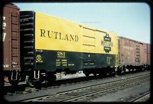 Railroad Slide Rutland RUT 281 on CV Palmer circa 1950s Red Border