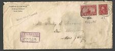DATED 1913 COVER NY #Q6 REGSTD RETURN RECEIPT DEMANDED HANDSTAMP CATS $55.00